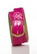 Double Wrap Bracelet - Pink Snakeskin