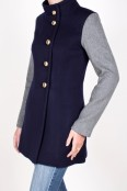 Navy and Grey Aldrich Coat