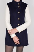 Navy and Cream Aldrich Coat
