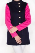 Navy and Pink Aldrich Coat
