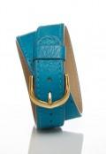 Double Wrap Bracelet - Turquoise Ostrich